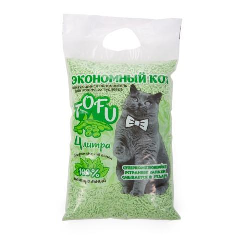 Комкующийся наполнитель TOFU,c ароматом зеленого чая, 4л
